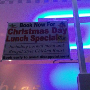 Christmas Day lunch at Spice Village