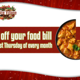 25% off last Thursday of every month Friends night